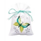 Sachets papillons & fleurs aida lot de 3 - 4