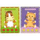 Cartes à broder chat & poney lot de 2 - 4