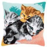 Kit coussin au point de croix trois chats - 4