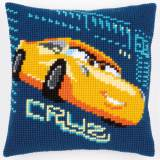 Coussin au point de croix disney cars cruz - 4
