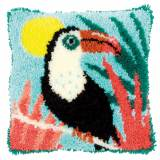Coussin point noué toucan 40x40cm - 4