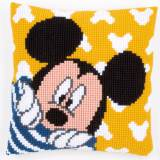 Coussin au point de croix disney mickey - 4