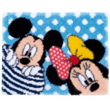 Tapis au point noué disney mickey & minnie - 4