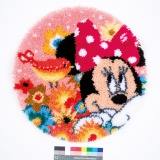 Tapis modelé au pt noué disney minnie a un secret - 4
