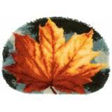 Kit tapis modelé au point noué feuille d'automne - 4