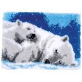 Kit tapis au point noué ours polaire - 4