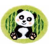 Kit tapis modelé au point noué panda - 4