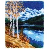 Tapis kit au point noué paysage d'automne - 4