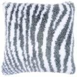 Coussin point noué motif zèbre 40x40cm - 4