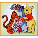 Diamond painting kit disney pooh et amis - 4