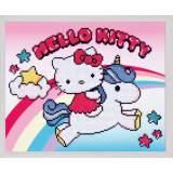 Diamond painting kit hello kitty avec licorne - 4