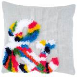 Coussin point noué chainette esperluette 40x40cm - 4