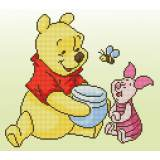 Diamond painting kit disney pooh avec porcelet - 4