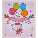 Diamond painting kit hello kitty avec ballons - 4