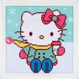 Diamond painting kit hello kitty dans la neige - 4