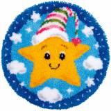 Kit tapis modelé au point noué petite étoile - 4