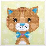 kit Diamond painting chat 22x22 cm - 4