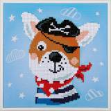 kit Diamond painting chien pirate + cadre 24x24 cm - 4