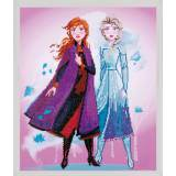 kit Diamond painting Disney Reine Neiges 47x55 cm - 4