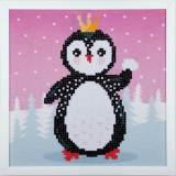 kit Diamond painting pingouin + cadre 24x24 cm - 4