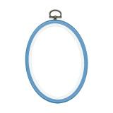 Cadre en plastique bleu 10/14cm - 4
