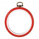 Cadre en plastique rouge7,5cm - 4