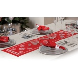 Chemin de table rouge kit complet 30/105 c - 4