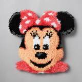 Coussin point noué 37x36cm minnie - 4