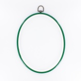 Cercle à broder plast. 20x25 cm vert