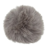 Pompons 6 cm taupe - 408