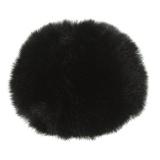 Pompons 8 cm noir - 408