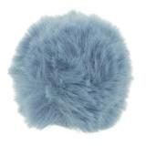 Pompons 8 cm bleu - 408