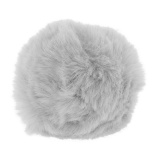 Pompons 8 cm gris - 408