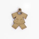 Bouton en bois vêtement - 408