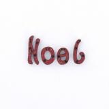 Sujet en bois pour Noël mot noël rouge - 408