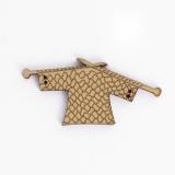 Bouton en bois tricot - 408