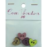 Bouton coeur pm - 408