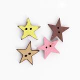 Bouton en bois étoile - 408