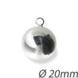 Pendentif boule 20mm anneau 3,3mm - 408