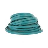 Cuir bleu turquoise de 5 mm - 408