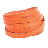 Cuir fluo orange de 10 mm - 408
