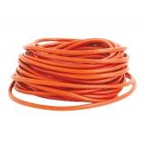Cuir orange rond de 3 mm - 408
