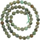 Perle turquoise africaine verte 6mm/fil 40cm - 408