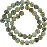 Perle turquoise africaine verte 8mm /fil de 40cm - 408