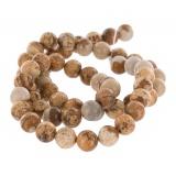 Perles rondes jaspe 6mm fil - 408