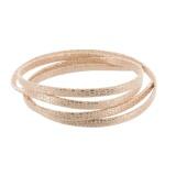 Cuir plat rose et cuivre métallisé - 408