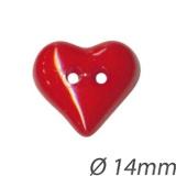 Bouton coeur à trous - 408