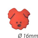 Bouton enfant tête de chien - 408