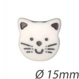 Bouton enfant tête de chat - 408