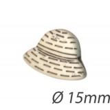 Bouton enfant forme chapeau - 408